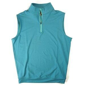 NWOT Peter Millar Crown Sport 1/4 Zip Vest
